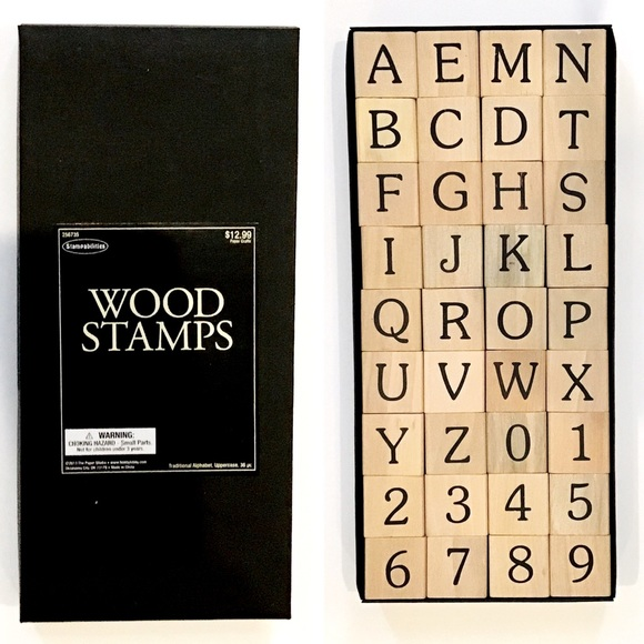 HOBBY LOBBY • A-Z, 1-0 Wood Stamps-1 Rubber Stamp